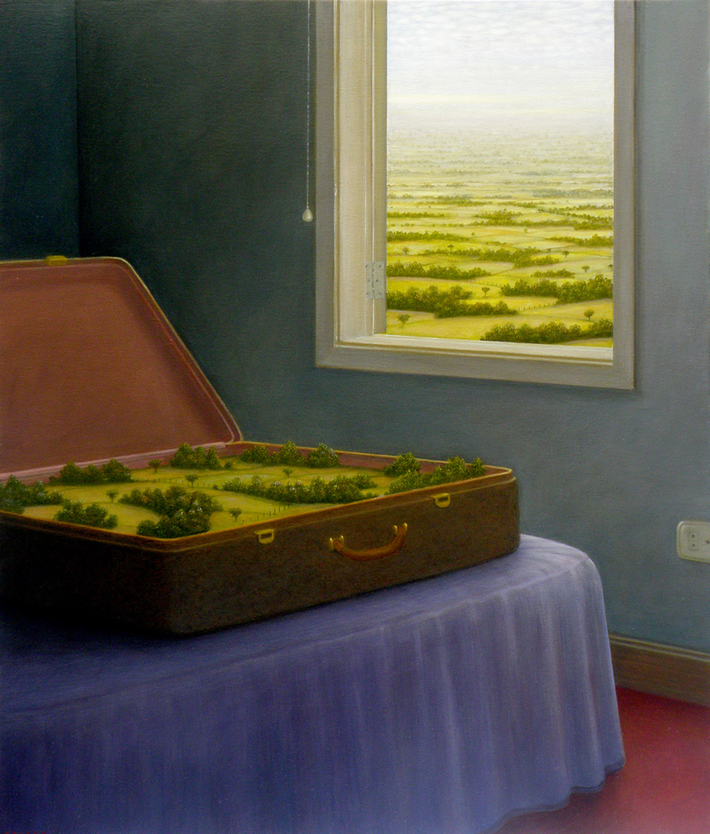 John Fraser - A Souvenir - Oil on canvas 100 x 81cm 2008