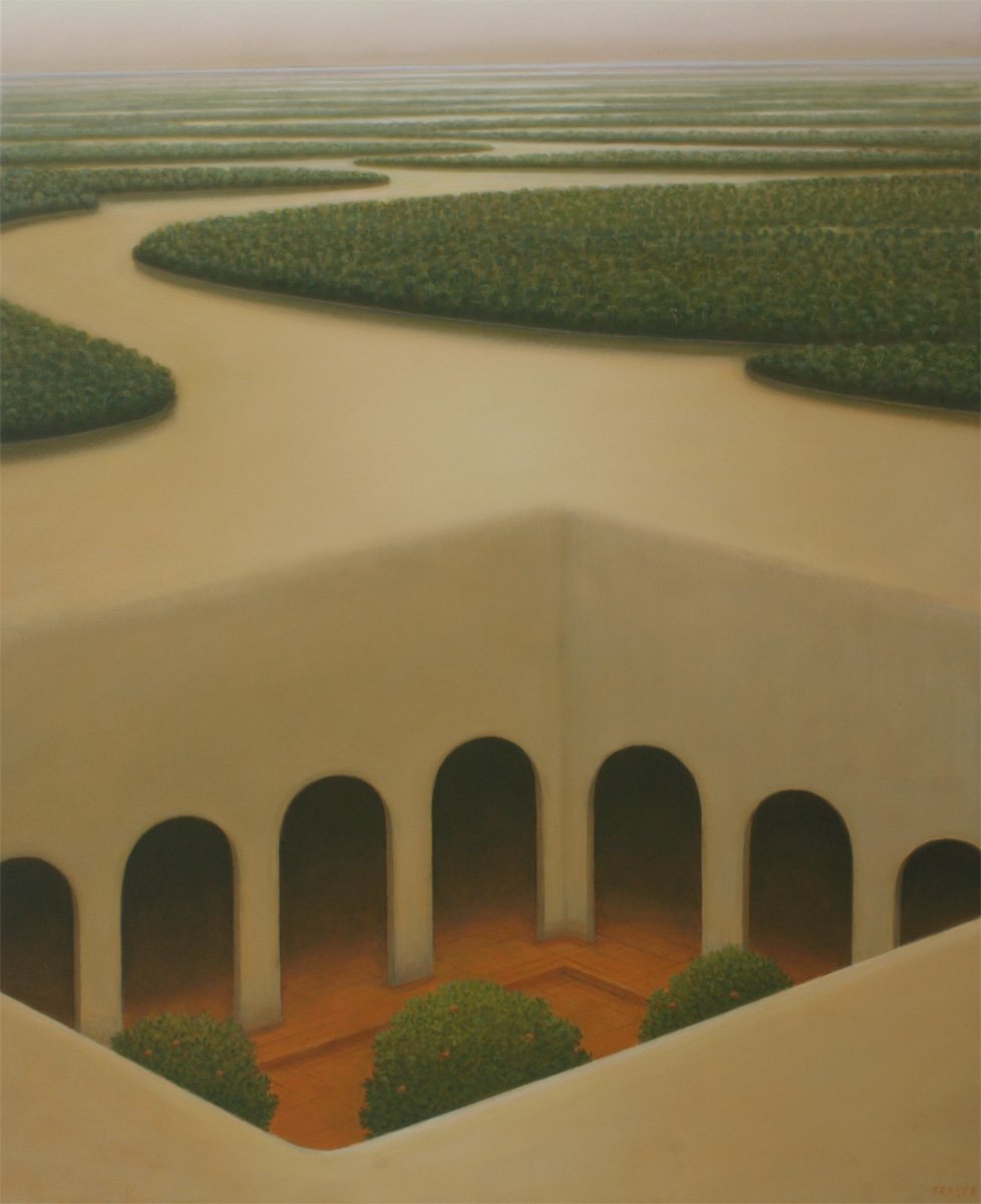 John Fraser - El Silencio - Oil on canvas 130 x 97cm 2005