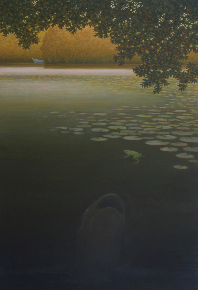 John Fraser - Gone Fishing - Oil on canvas 124 x 81cm 2010